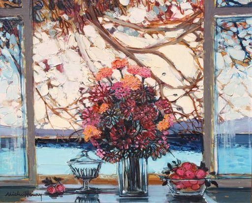 MICHEL-HENRY - Painting - Fenêtre Catalane