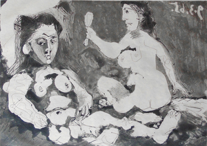 Multiple nude women