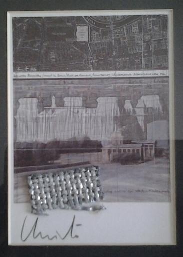 CHRISTO - Gemälde - Wrapped Reichstag