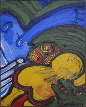 Bengt LINDSTRÖM - Pintura - L'acrobate bleu