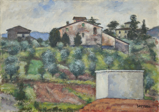 Ardengo SOFFICI - Pittura - La casa rossa