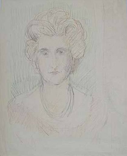 Broncia KOLLER-PINELL - Drawing-Watercolor - Frauenporträt