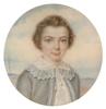 """Elisa Apollina DEHARME - Zeichnung Aquarell - """"Portrait of a boy"""",  ca 1840"""