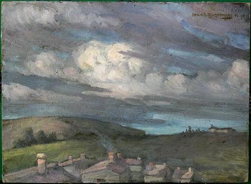 Jean-Désiré BASCOULES - Gemälde - ETUDE DE CIEL NUAGEUX