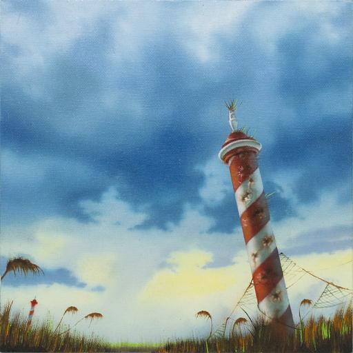 Carlo Alberto RASTELLI - Peinture - Summer on a solitary beach #5