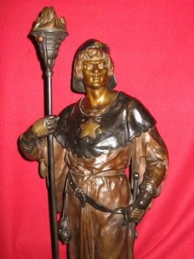 Emile Louis PICAULT - Escultura - Chevalier-Porte Flambeau