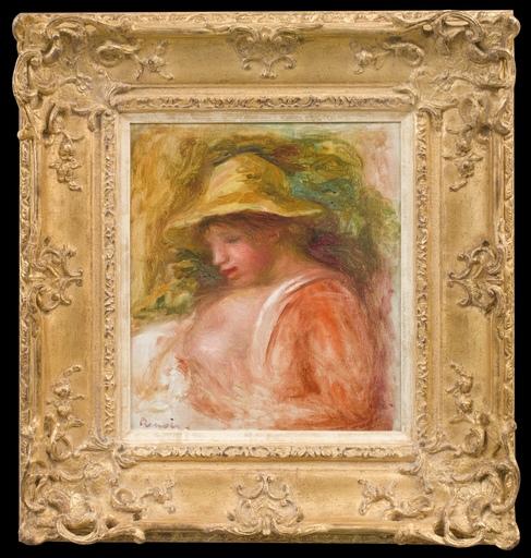 Pierre-Auguste RENOIR - Peinture - Femme au Chapeau