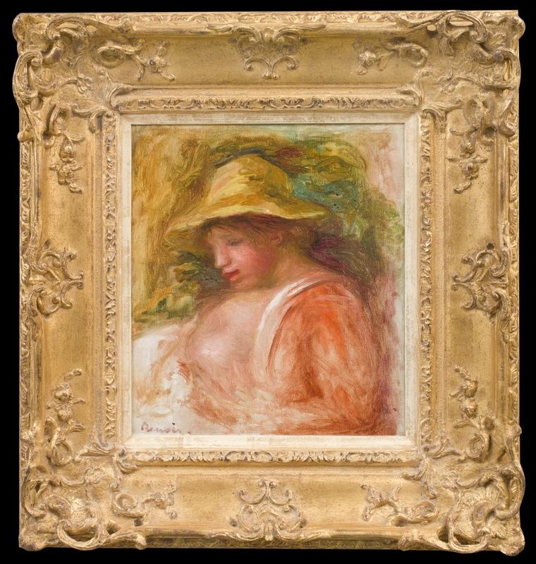 Pierre-Auguste RENOIR - Painting - Femme au Chapeau
