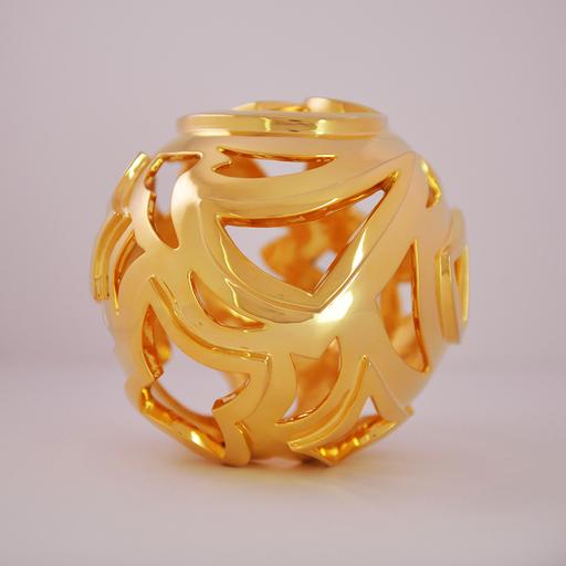 Tim TAYLOR - 雕塑 - Gold Ball 2