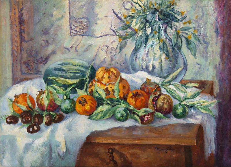 Henri MANGUIN - Peinture - Nature morte aux grenades