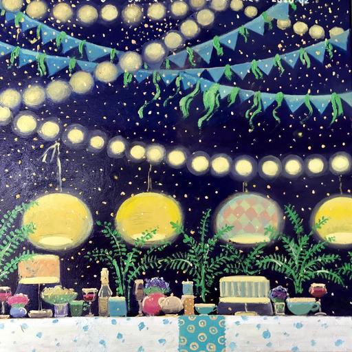 Rusiko CHIKVAIDZE - Peinture - Evening