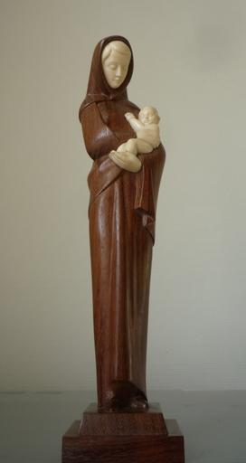 Victor FELTRIN - Sculpture-Volume - vierge a l enfant