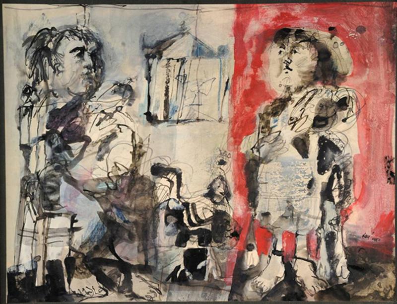 Antoni CLAVÉ - Painting - Les paysannes