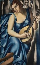 Tamara DE LEMPICKA - Grabado - Jeune femme à la mandoline