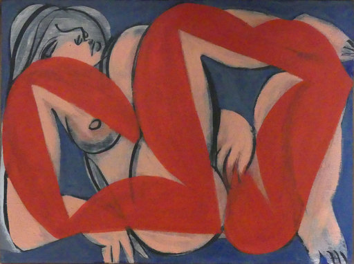 Alain CLÉMENT - Gemälde - l'origine de la peinture