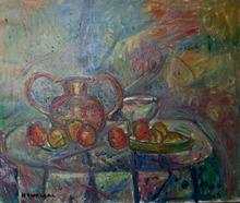 Pinchus KREMEGNE - Pintura - Still life with Copper Vase