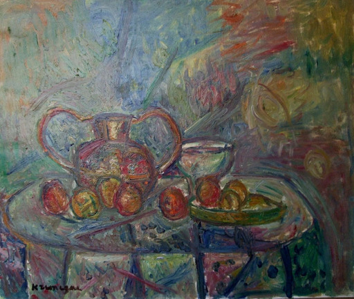 Pinchus KREMEGNE - Painting - Still life with Copper Vase