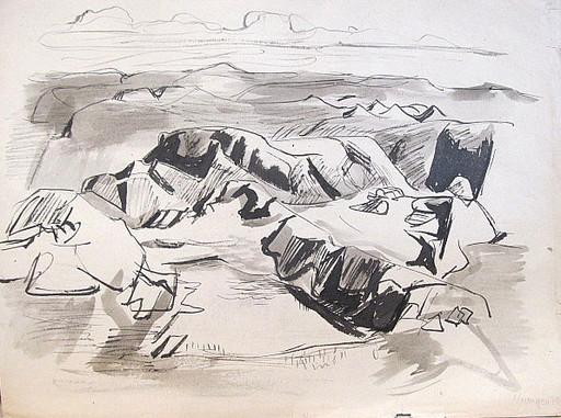 Erich HARTMANN - Dessin-Aquarelle - #19916: Norwegen.