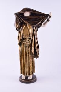 """Jean-Léon GÉROME - Sculpture-Volume - La Femme Au Voile"""", standing woman with veil"""