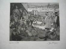 Yves BRAYER - Print-Multiple - Le conteur Arabe,Fez,1927.