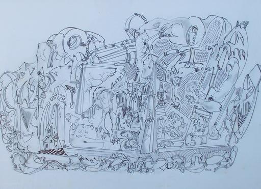 William FENECH - Dessin-Aquarelle - Paysage destructuré