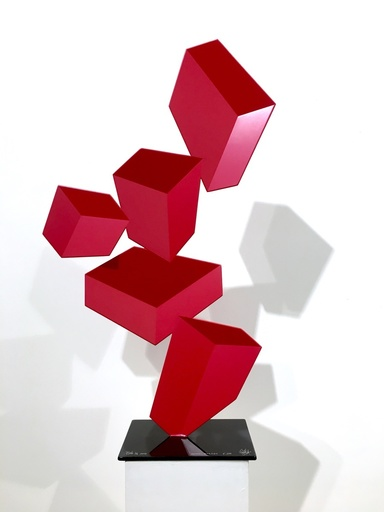 Rafael BARRIOS - Sculpture-Volume - Splash F200 - Opal Red, 2016