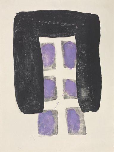 菅井 汲 - 版画 - Le vent violet