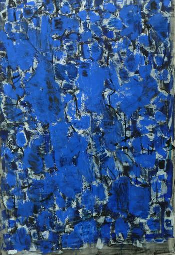 François GARROS - Painting - Grande Electricité bleue