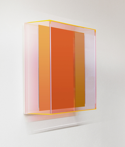 Regine SCHUMANN - Scultura Volume - Colormirror rainbow Senkrecht soft orange