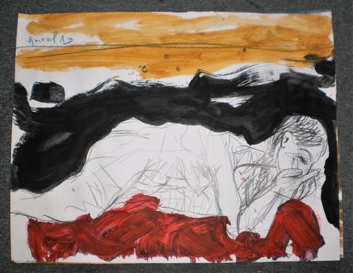 Bernard MOREL - Drawing-Watercolor - MODELE
