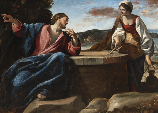 Giovanni LANFRANCO - Pittura - Christ and the Samaritan woman at the well