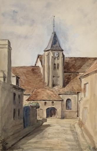 Alfred KELLER - Dibujo Acuarela - Groslay - Val d'Oise  (KP17)