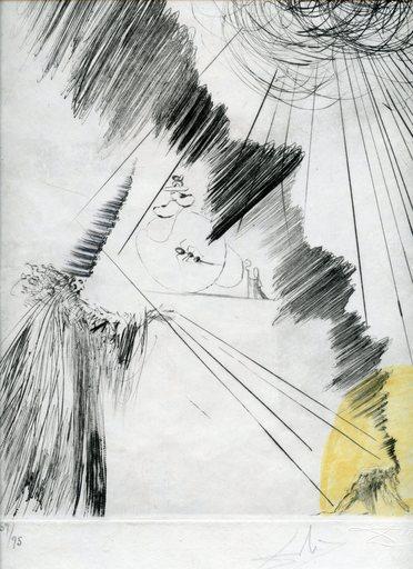 萨尔瓦多·达利 - 版画 - GRAVURE 68 SIGNÉ CRAYON NUM/95 ML302 HANDSIGNED NUMB ETCHING