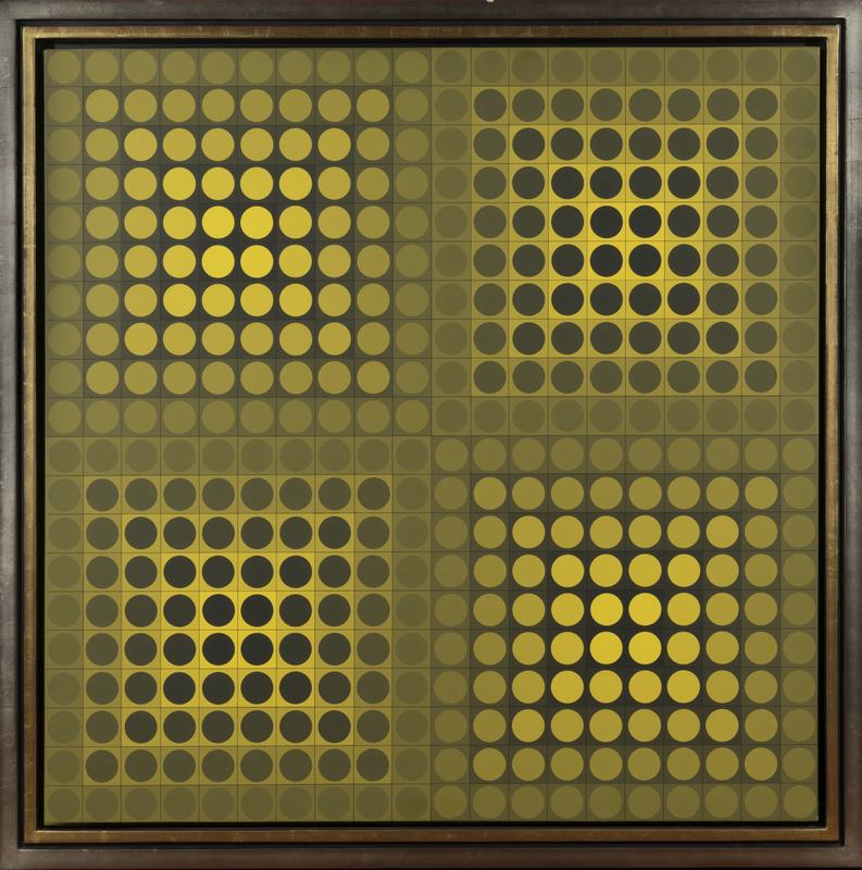 Victor VASARELY - Painting - A BLACK