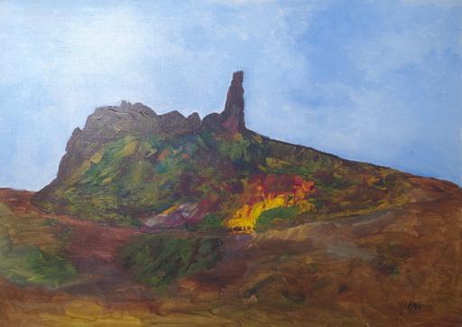 Kyna DE SCHOUEL - Peinture - Volcan
