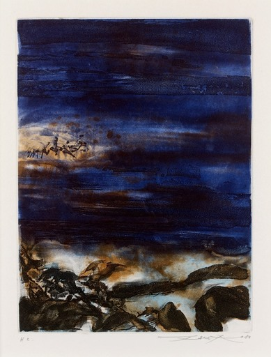 ZAO Wou-Ki - Print-Multiple - De la série Beauregard, 1980
