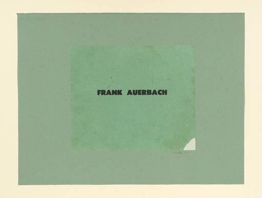Ronald Brooks KITAJ - Print-Multiple - Frank Auerbach