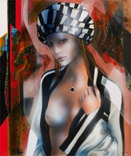 Jean-Baptiste VALADIÉ - Pintura - Black & White