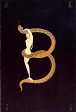 ERTÉ - Estampe-Multiple - Letter B (from alphabet suite)