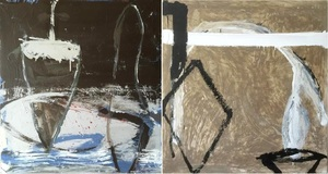 Tony SOULIÉ - Pintura - Abstraction Dyptique
