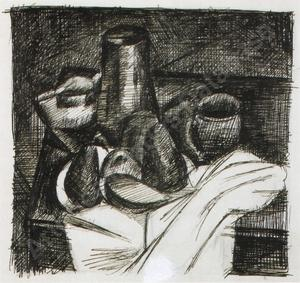 André DERAIN - Dibujo Acuarela - Still life