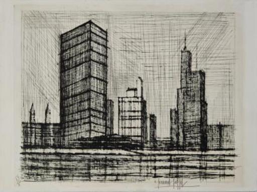 Bernard BUFFET - Grabado - New-York : UN Building