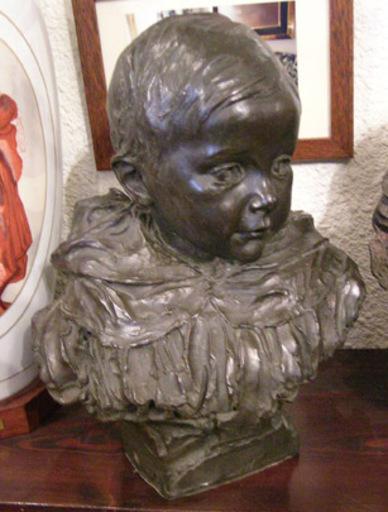 Mariano BENLLIURE Y GIL - Escultura - Busto de niño