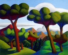SALVO - Peinture - La valle