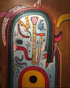 Alan DAVIE - Painting - Billi's game Nr.1
