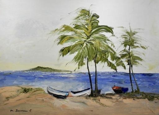 Michel JOUENNE - Peinture - La Mer Bleue