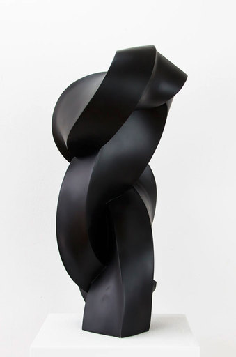 Stephan MARIENFELD - Sculpture-Volume - Twist- Porzellan schwarz
