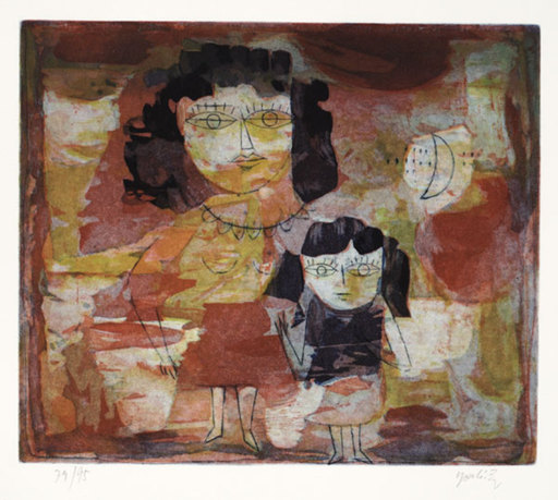 Yoshi TAKAHASHI - Estampe-Multiple - Mutter und Tochter