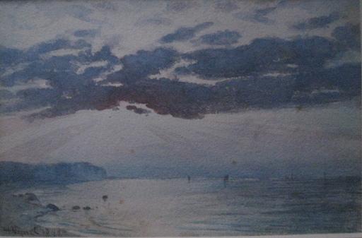 Henri VIGNET - Dibujo Acuarela - ETRETAT 1899