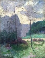 Georg BURMESTER - Painting - Paysage
